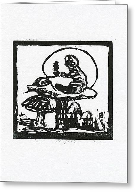 Print Reliefs Greeting Cards - Who are you Greeting Card by Barbara M Wilson