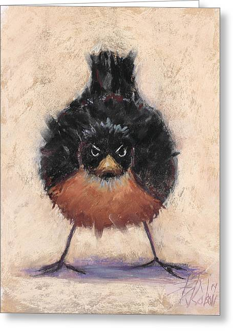 People Pastels Greeting Cards - Who Are You Calling Fat Greeting Card by Billie Colson