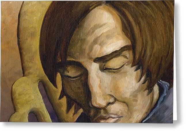 Who Does Not Meditate Disintegrates Greeting Card by John Ashton Golden