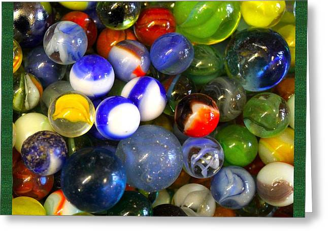Marble Eye Greeting Cards - Who Lost Their marbles Greeting Card by Steven Parker