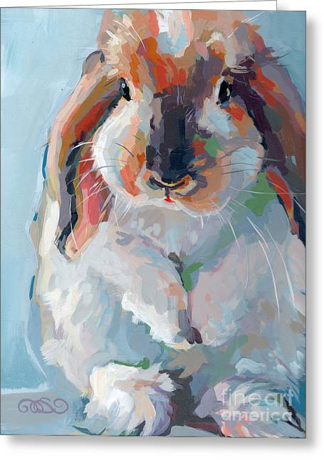 Lop Greeting Cards - Who Said Easter Greeting Card by Kimberly Santini