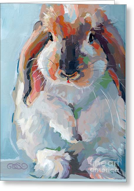 Who Said Easter Greeting Card by Kimberly Santini