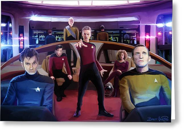 Doctor Who Greeting Cards - Who Trek Greeting Card by Brett Hardin