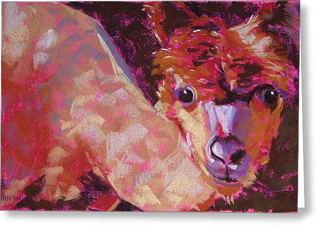 Ranch Pastels Greeting Cards - Who You Lookin At Greeting Card by Mary McInnis