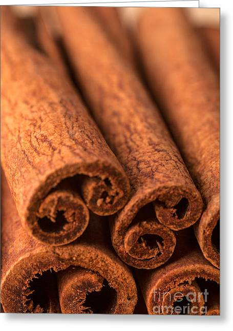 Reliable Greeting Cards - Whole Cinnamon Sticks  Greeting Card by Iris Richardson