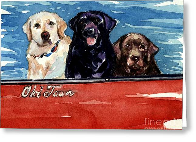Best Sellers -  - Canoe Greeting Cards - Whole Crew Greeting Card by Molly Poole