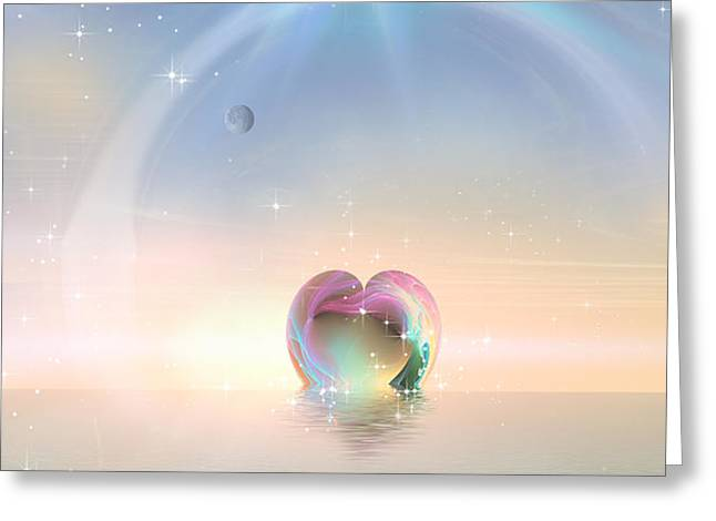 Mix Medium Digital Greeting Cards - Whole Hearted Greeting Card by Phil Sadler