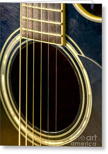 """""""fret Board"""" Greeting Cards - wHOLE SOUND Greeting Card by Elvis Vaughn"""