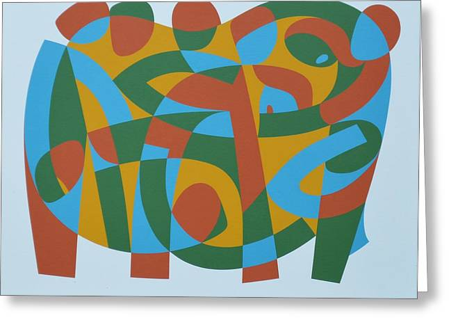 Hard Edged Greeting Cards - Wholeness In Brokenness, 1989 Acrylic On Board Greeting Card by Ron Waddams