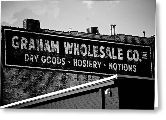 Ghost Signs Greeting Cards - Wholesale Co Greeting Card by Brandon Addis