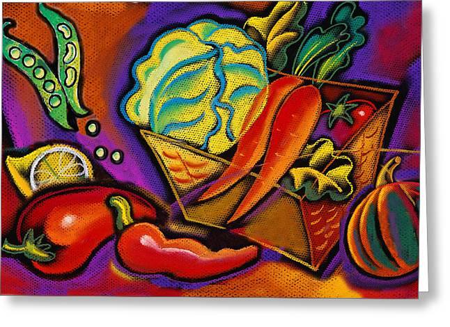 Very Healthy For You Greeting Card by Leon Zernitsky