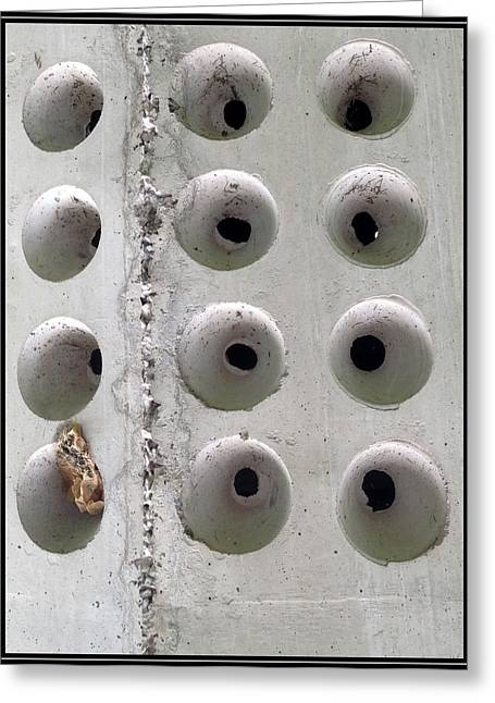 Wholly Greeting Cards - Wholly Holes 1 Greeting Card by Marlene Burns