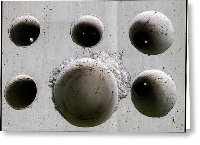 Wholly Greeting Cards - Wholly Holes 5 Greeting Card by Marlene Burns