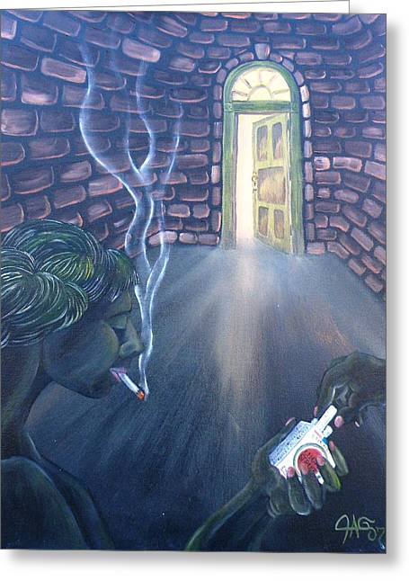 Best Sellers -  - Gypsy Greeting Cards - Whores In The Alley Smoking Their Luck Strikes Greeting Card by The Gypsy And D Kay