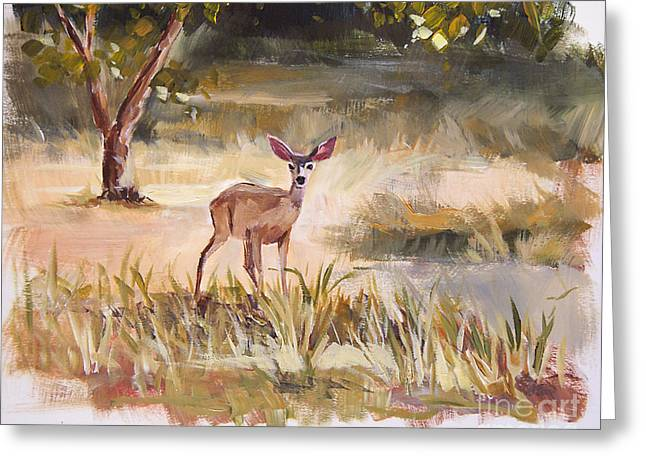 Forest Creature Greeting Cards - Whos There Greeting Card by Jennifer Beaudet