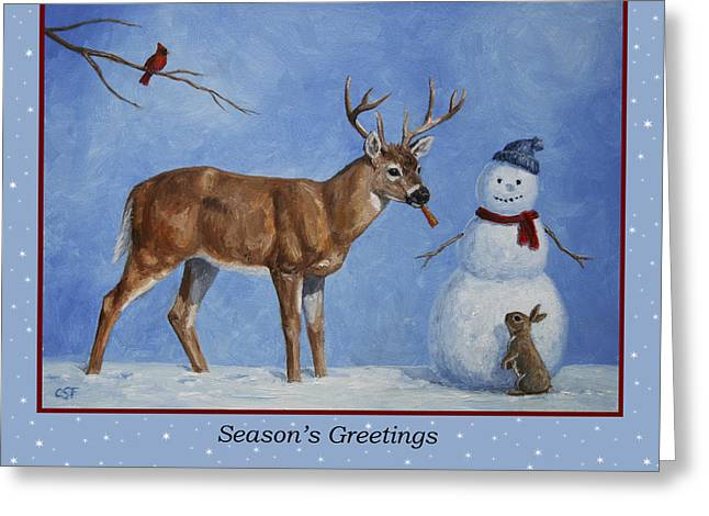 Whose Carrot Seasons Greeting Greeting Card by Crista Forest