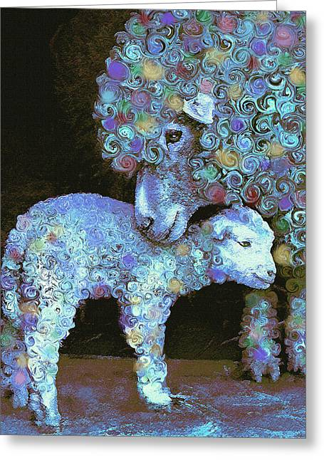 Barnyard Greeting Cards - Whose little lamb are you? Greeting Card by Jane Schnetlage