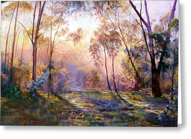 Australia Pastels Greeting Cards - Why I Live Where I Live Greeting Card by Lynda Robinson