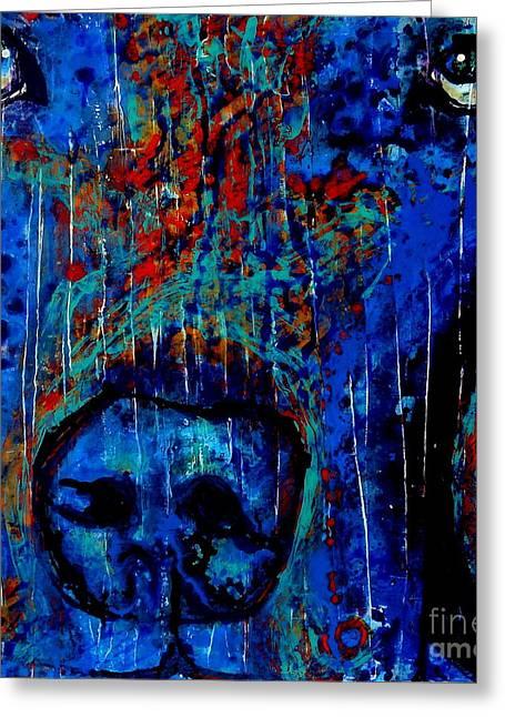 Bogey Greeting Cards - Why So Blue? Greeting Card by Freddie Lieberman
