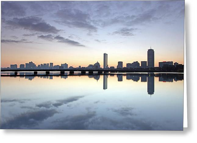 Why So Quiet Boston Greeting Card by Juergen Roth