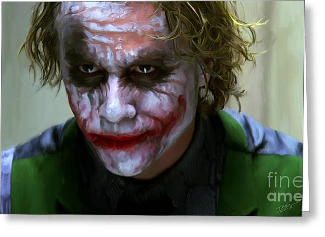 Heath Ledger Greeting Cards - Why So Serious Greeting Card by Paul Tagliamonte
