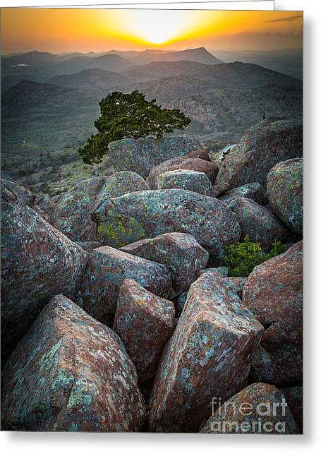 Best Sellers -  - Wildlife Refuge. Greeting Cards - Wichita Mountains Greeting Card by Inge Johnsson