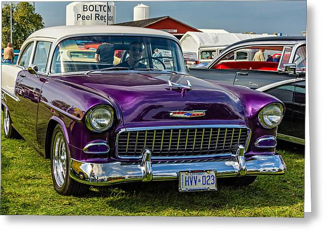 Wicked 1955 Chevy Greeting Card by Steve Harrington