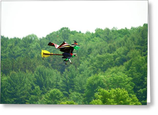 Wicked and Flying Greeting Card by Thomas Young