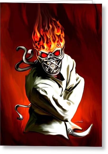Spano Greeting Cards - Wicked Insanity by Spano Greeting Card by Michael Spano
