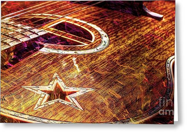 Acoustical Digital Art Greeting Cards - Wicked Music Digital Guitar Art by Steven Langston Greeting Card by Steven Lebron Langston