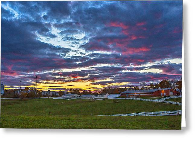 Uconn Greeting Cards - Wicked New England Sunset Greeting Card by Steve Pfaffle