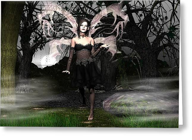 Eva Thomas Greeting Cards - Wicked Night Greeting Card by Eva Thomas