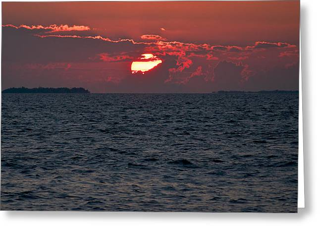 Reflection In Water Greeting Cards - Wicked Sunset Greeting Card by Vaughn Garner
