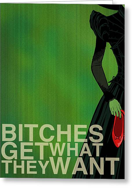 Graphic Greeting Cards - Wicked Witch of the West Greeting Card by Christopher Ables