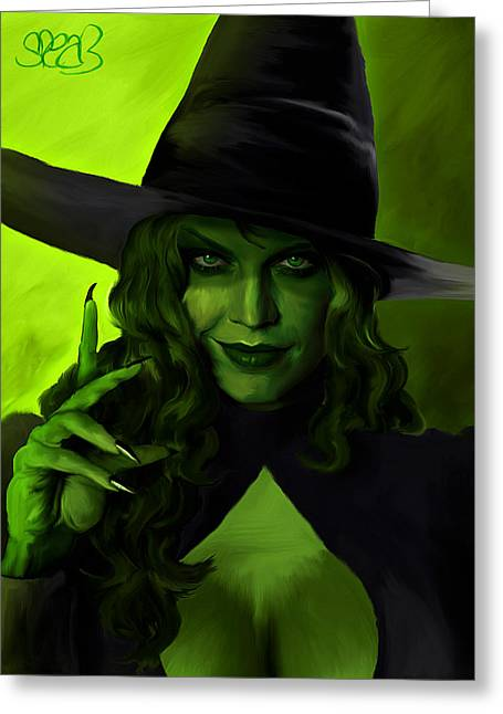 Wicked Witch Of The West Greeting Cards - Wicked Witch of the West Greeting Card by Mark Spears