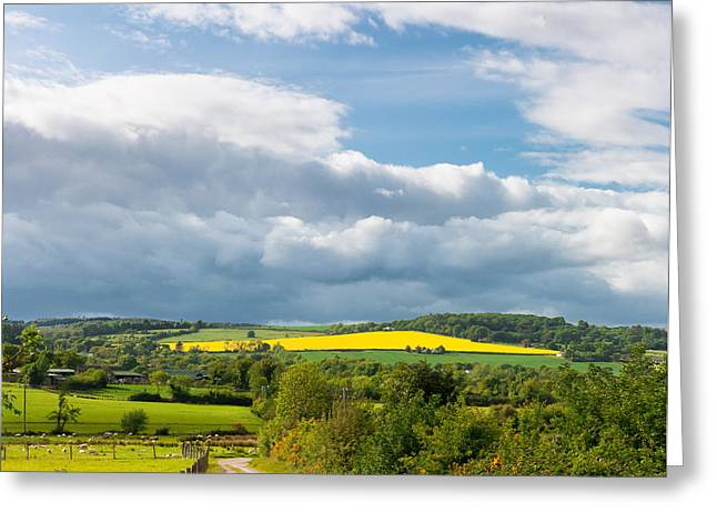 Harvest Time Greeting Cards - Wicklow Landscape Greeting Card by Semmick Photo