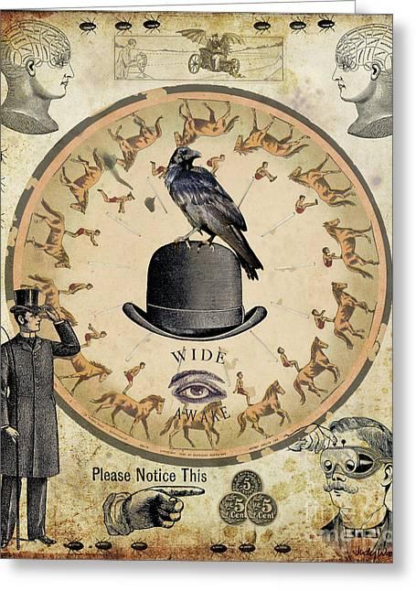 Wide Awake Greeting Card by Judy Wood