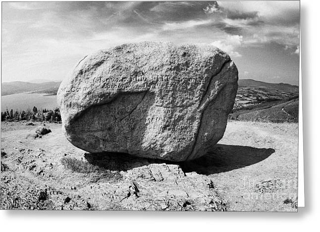 Martin County Greeting Cards - wide of the area around the The cloughmore stone on Slieve Martin Rostrevor Greeting Card by Joe Fox