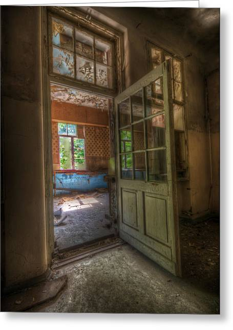 Haunted House Digital Greeting Cards - Wide open Greeting Card by Nathan Wright
