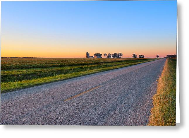 Scenic Artwork Greeting Cards - Wide Open Roads - Rural Georgia Landscape Greeting Card by Mark Tisdale