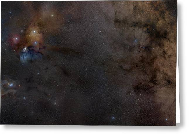 Colorful Cloud Formations Greeting Cards - Widefield View Of The Area Greeting Card by Rogelio Bernal Andreo