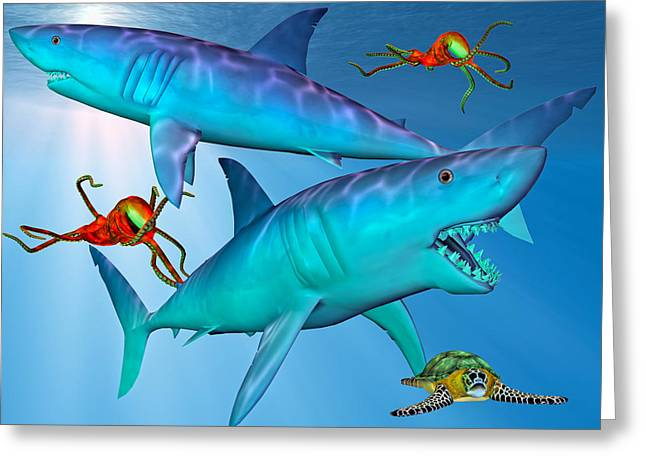 Fish Digital Greeting Cards - Widespread Panic Greeting Card by Betsy C  Knapp