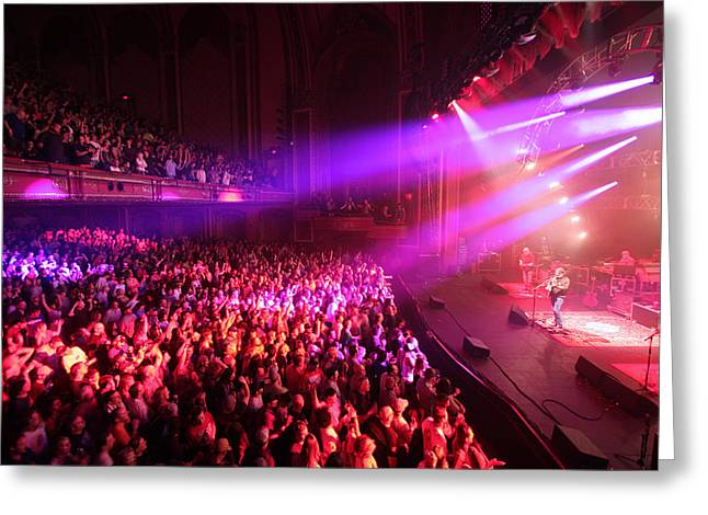 Live Music Greeting Cards - Widespread Panic Red Greeting Card by Ty Helbach