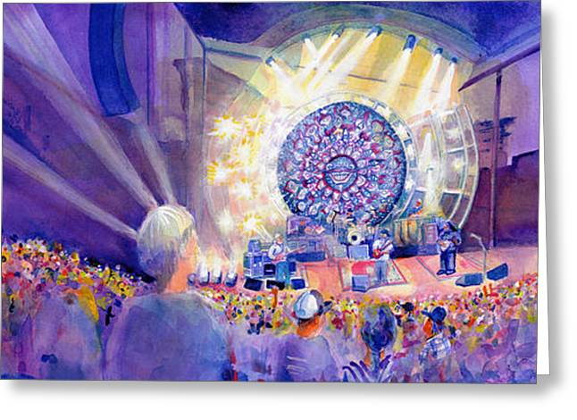 Dave Greeting Cards - Widespread Panic Thursday Redrocks Greeting Card by David Sockrider