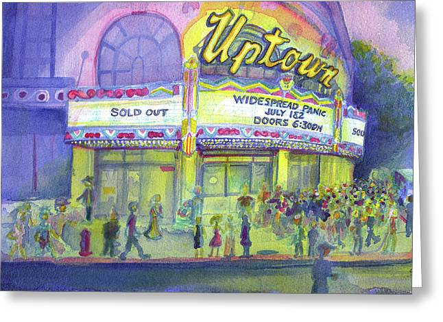 Kansas City Paintings Greeting Cards - Widespread Panic Uptown Theatre  Greeting Card by David Sockrider