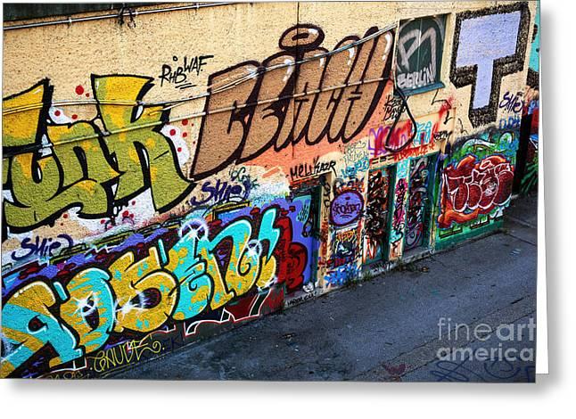 Wien Greeting Cards - Wien Graffiti Greeting Card by John Rizzuto