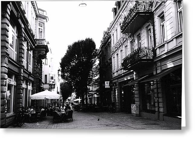 Hauptstadt Greeting Cards - Wiesbaden Cafes Greeting Card by Laura Dixon