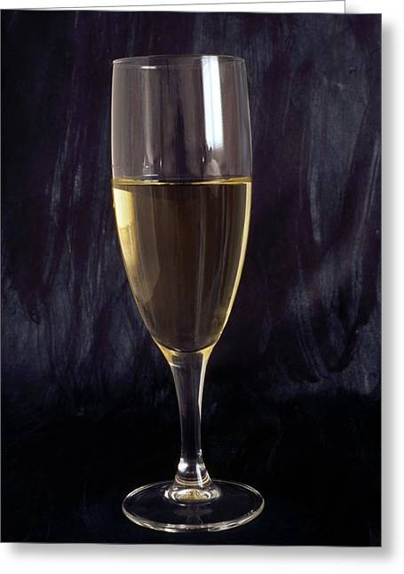 Champagne Glasses Greeting Cards - Wihite wine Greeting Card by IB Photo