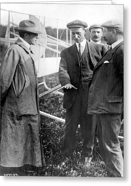 Wilbur Wright, 1908 Greeting Card by Science Source