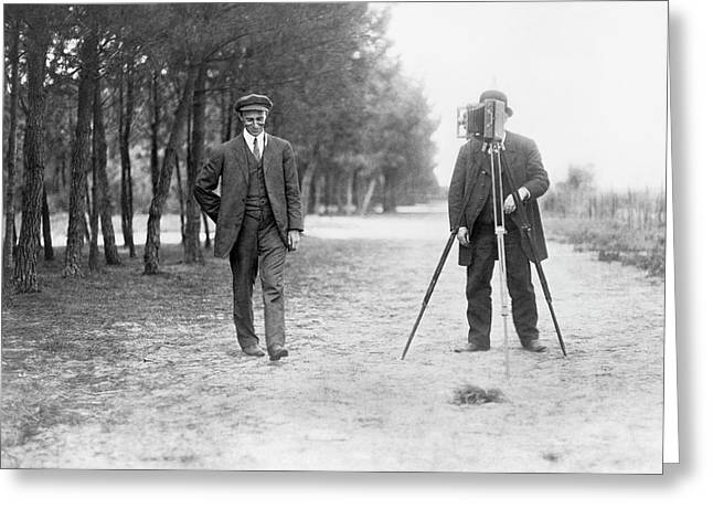 Wilbur Wright And Photographer Greeting Card by Library Of Congress